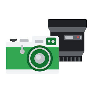 An illustration of a bundle that includes a camera body, lens, and bag