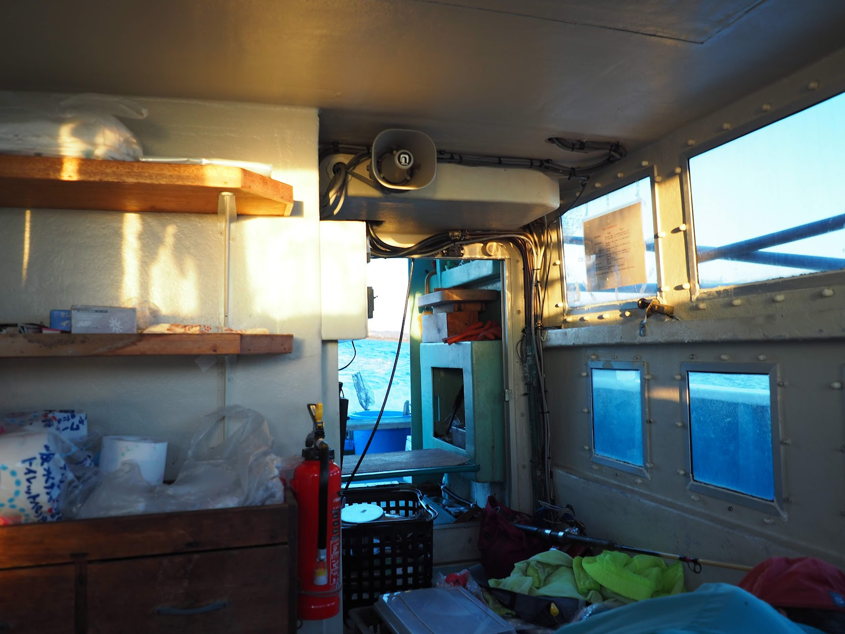 船内の休憩所