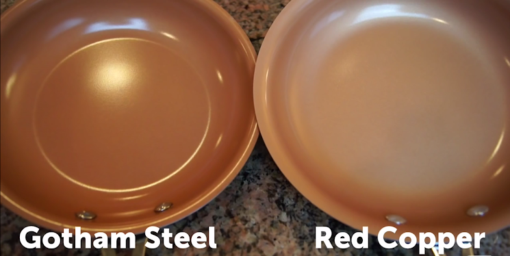 Gotham Steel vs Red Copper Color