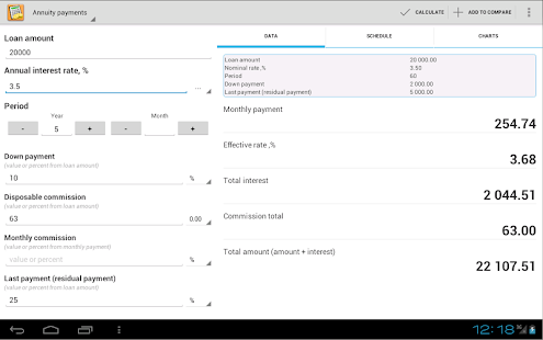 App Simple Loan Calculator APK for Windows Phone