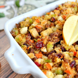 Apple and Sausage Stuffing.