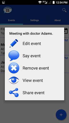 Talking Calendar Reminder app  screenshots 2