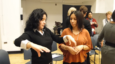 Photo: Graduate Candidates work with Cecily O'Neill using Process Drama.