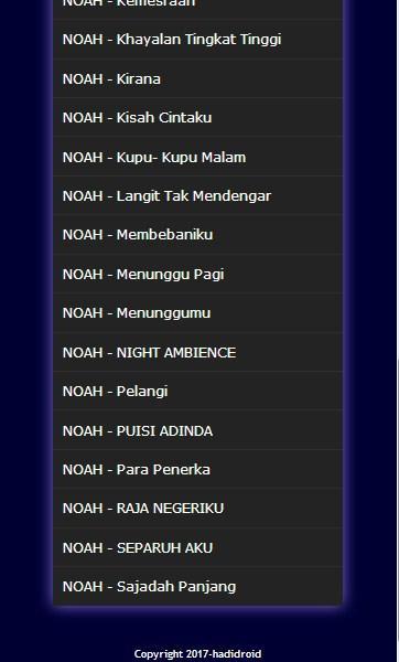 Lagu Noah :Terbaru Mp3 - Izinhlelo ze-Android ku-Google Play