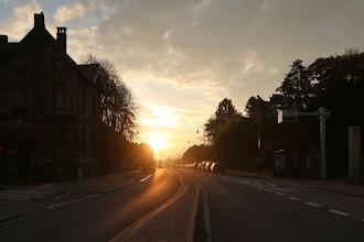 Photo: Traversée de la grand route de Fléron