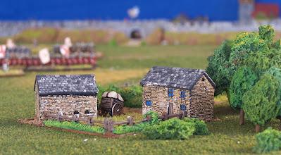 Photo: Una fattoria sul San Lorenzo.Miniature Baccus, materiale scenico TimeCast e autocostruito.