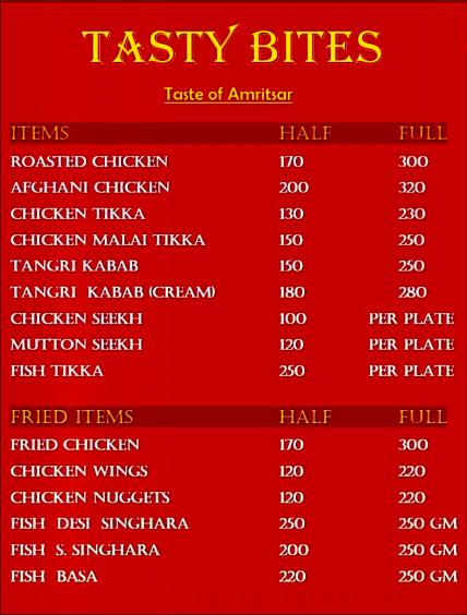 Tastybites Panchkula menu 1