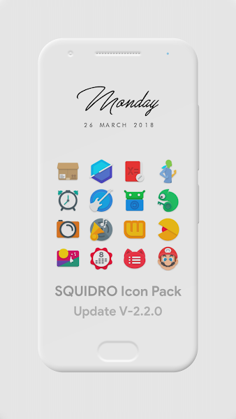 Squidro – Icon Pack v2.2.0 [Patched]