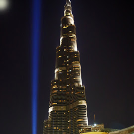 Dubai at Night 1 by Ingrid Anderson-Riley - Buildings & Architecture Office Buildings & Hotels