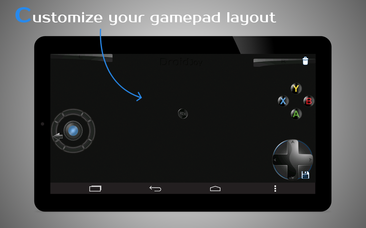 DroidJoy Gamepad Joystick Demo- screenshot