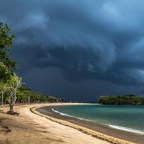before rain... by Happy Sugianto - Landscapes Beaches ( nusa dua, bali, sea, cloud, beach,  )
