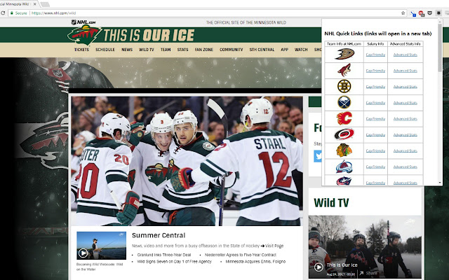 NHL Quick Links