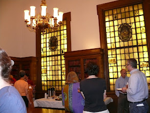 Photo: Reception in the Treasure Room of Berry-Baker Library