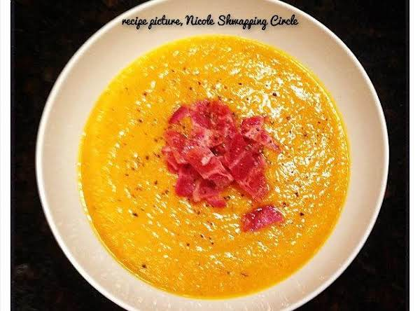 Butternut Squash Soup With Apple & Bacon Recipe