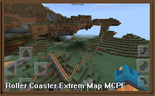 Guide Roller Coaster Extreme Map MCPE - náhled
