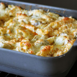 Chicken, Cheese, and Penne Pasta Bake.