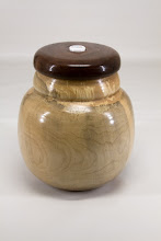 "Photo: Stephen Price 6"" x 7"" Beads of Courage box [maple, walnut]"