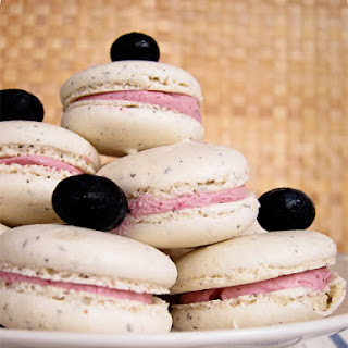 Earl Grey Macaron with Blueberry Compote Buttercream Recipe