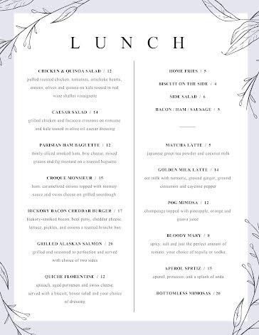 Elegant Lunch Menu - Food Menu template