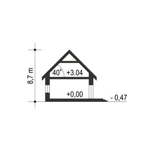 Dom Dla Ciebie 1 w2 z garażem 1-st. A - Przekrój