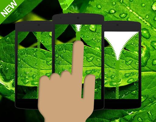 Leaf Green Zipper Locker