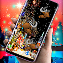 Reindeer Live Wallpaper ❤️ HD Christmas Wallpapers icon