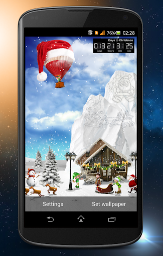 Day Night Xmas LWP 2015 скачать на планшет Андроид