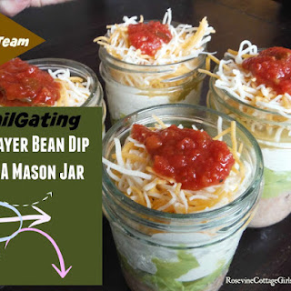 7 Layer Bean Dip In A Mason Jar