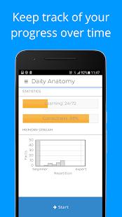 Daily Anatomy: Flashcard Quizzes to Learn Anatomy - náhled