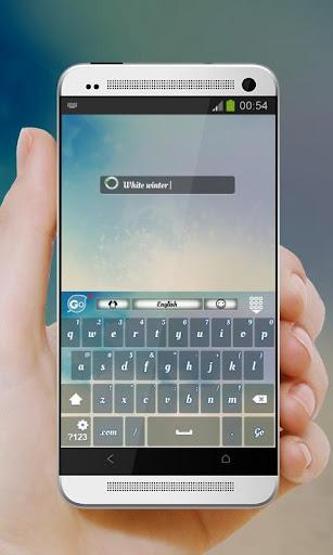 玩個人化App|하얀 겨울 GO Keyboard免費|APP試玩