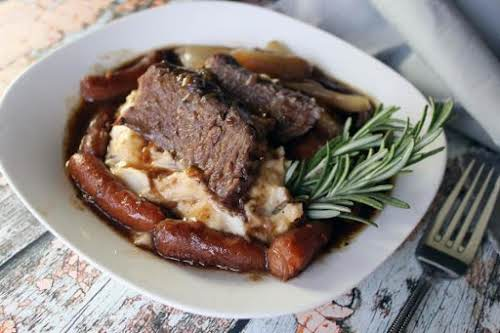 """Best Ever Pot Roast with Boursin Mashed Potatoes """"This is so tender,..."""