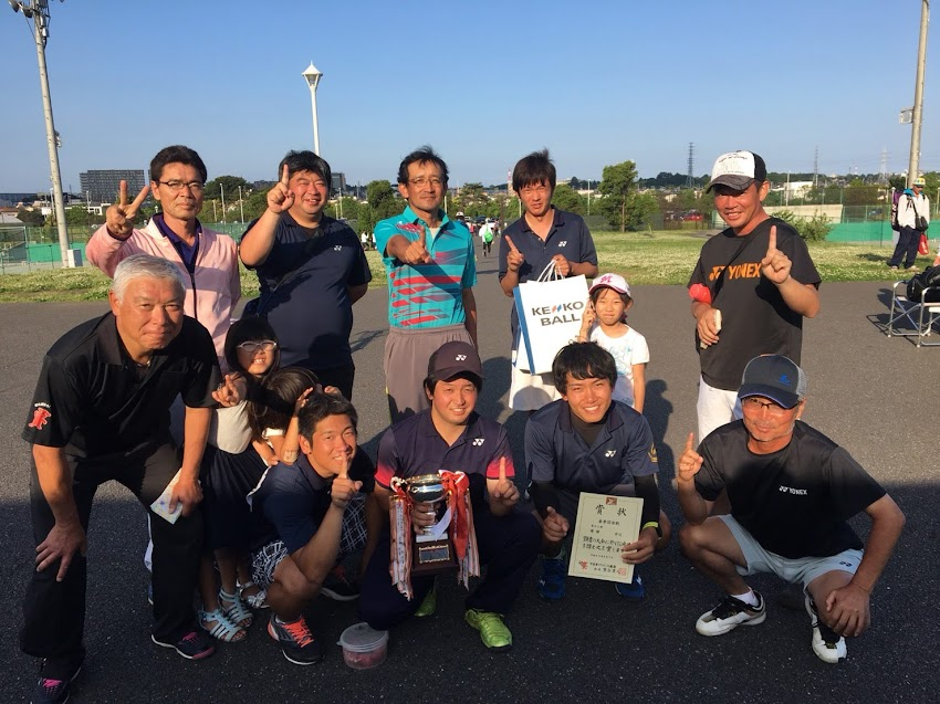 優勝した男子チーム