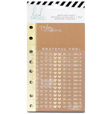Heidi Swapp Memory Planner Inserts With Stickers - Give Thanks UTGÅENDE