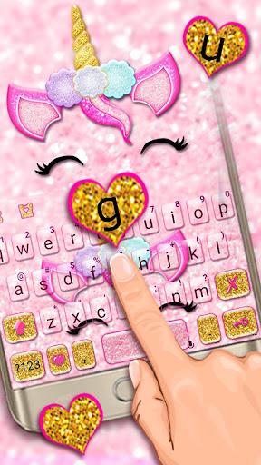 Glisten Unicorn Pinky Keyboard Theme ss2