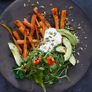 Carrot and Avocado Salad with Crunchy Seeds Recipe