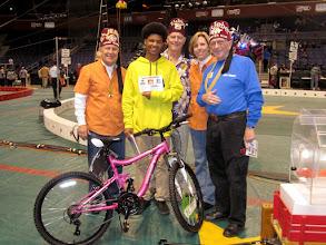 Photo: 2nd bike winner