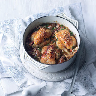 Three-poussin Pot-roast Cassoulet With Toulouse Sausages