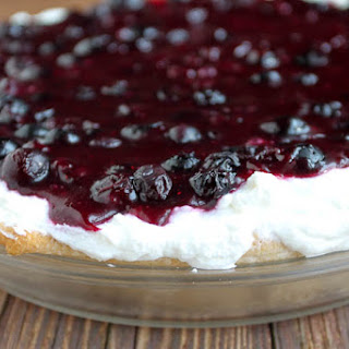 Upside Down Blueberry Whipped Cream Pie Recipe