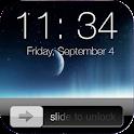 Lock screen slider icon