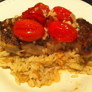 Pork Chops with Pan Roasted Cherry Tomatoes