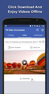 Video Downloader For Facebook App - náhled