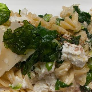 Fusilli with Spinach and Ricotta Recipe