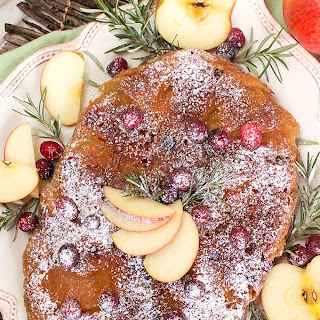 Slow Cooker Apple Cranberry Upside Down Cake.