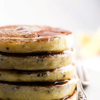 Lemon Black Sesame Pancakes