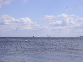 Photo: Eckernförder Bucht bei Waabs U-Boot vss Fischerboot