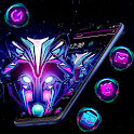 Wolf Neon Launcher Theme 🐺 icon
