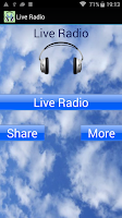 Screenshot of Live Radio