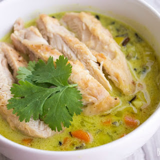 Beer-Braised Chicken with Coconut Curry Wild Rice