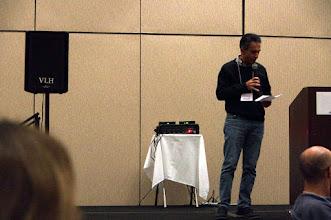 Photo: Nicola Leone, the LPNMR president, speaking