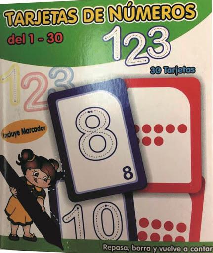tarjeta de numeros Tarjeta de Numeros